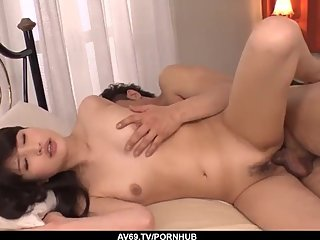 Saki Kobashi takes on a huge dick and fucks it like cra - More at 69avs com