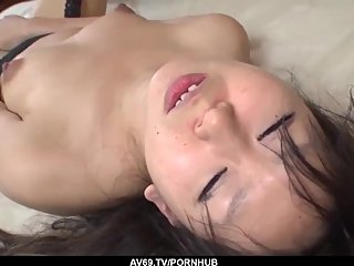 Morita Kurumi in merciless scenes with a huge dick - More at 69avs com