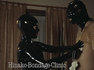 Electric Latex sissy Japanese latex Mistress Hinako