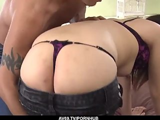 Kyoka Mizusawa bends the ass for a young cock - More at 69avs com