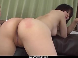 Ai Nashi lands a lot of dick in her tiny holes - More at 69avs com