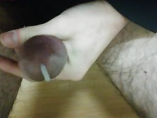 Masturbation with a penis ring.
