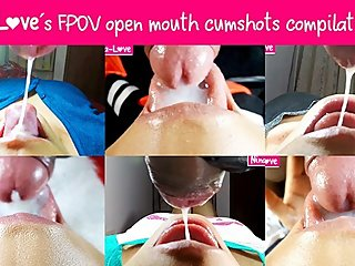 Nina-Love?s FPOV open mouth cumshots compilation #4 - Female POV - Girl POV