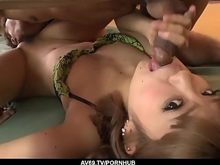 Hard sex and cum on pussy for amateur Kana Aono - More at 69avs com