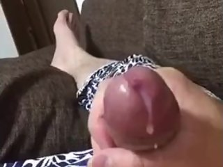 Japanese straight  solo cumshot