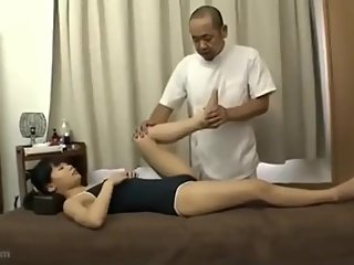 Tiny japanese girl getting fucked by old creep