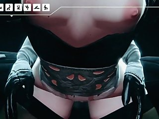 Hot Bitch in Latex Horror 3D