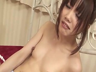 Ageha Kinashita presents her assets in full threesome - More at 69avs com