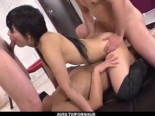 Sayuri shows off in a wild tryout with multiple partner - More at 69avs com