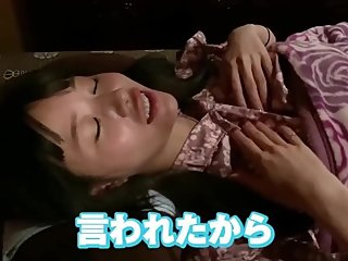 cute Japanese girl receives painful foot massage