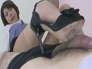 Japanese office lady Erotic shoejob