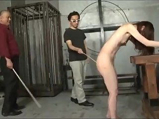 Spank and whip Jap slave Maya until she passed out then wake her up by whip