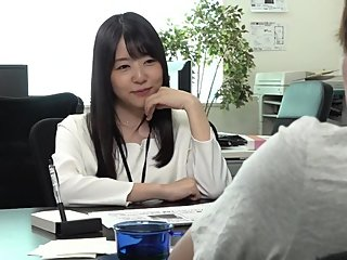 Japanese OL footjob under the table