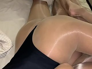 thong Leotard pantyhose nylon fetish couple