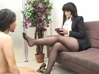 Japanese Office lady Footjob