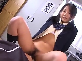 Japanese schoolgirl Chihiro Aoi and tempting a virgin boy