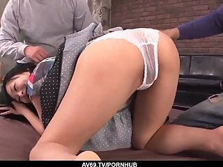 Nozomi Hazuki swallows cock after severe group sex - More at 69avs com